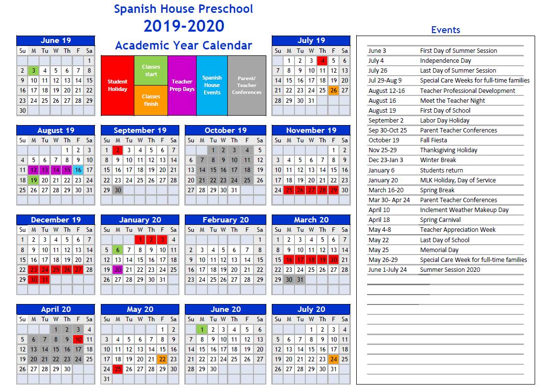 Dallas Calendar Of Events 2020 Dallas Spanish House